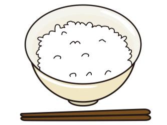 ご飯粒で墨汁の染み抜き